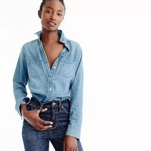 J. Crew Everyday chambray shirt 10